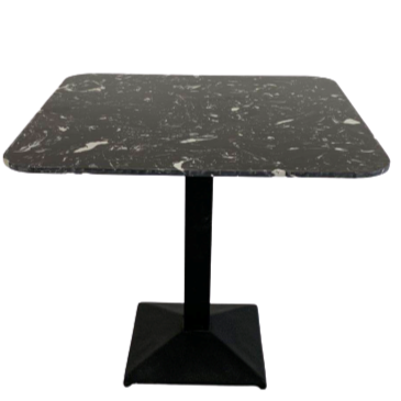 Artist square black Dining table with black leg-85cm